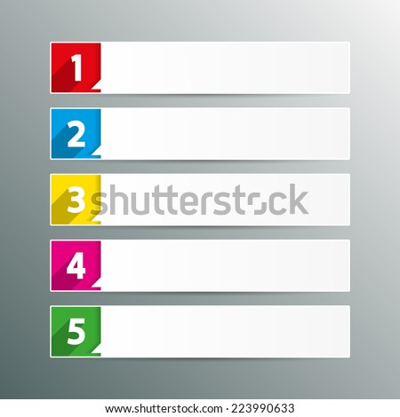 Table Contents Use Template Sequence Rank Stock Vector (Royalty Free ...