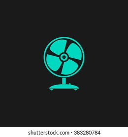 Table fan. Flat simple modern illustration pictogram. Collection concept symbol for infographic project and logo