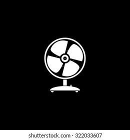Table fan. Simple flat icon. Black and white. Vector illustration