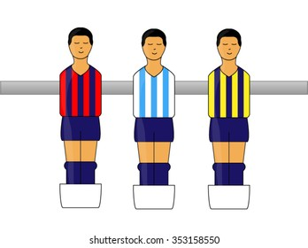 Table Football Figures with Argentinian League Uniforms 2