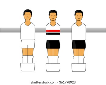 Table Football Figures with Brazilian League Uniforms 1
