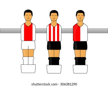 Table Football Figures with Dutch League Uniforms