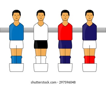 Table Football Figures with European Uniforms 1