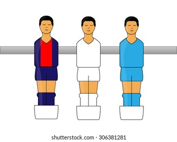 Table Football Figures with French League Uniforms