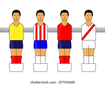 Table Football Figures with Latin American Uniforms 2