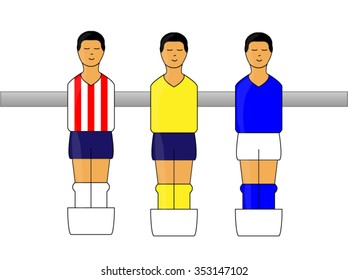 Table Football Figures with Mexican League Uniforms 1