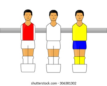 Table Football Figures with Portuguese League Uniforms
