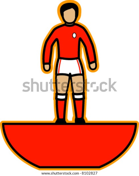 Table Football Player (Red)