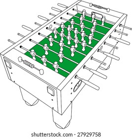 Table Football And Soccer Game Perspective Vector 01