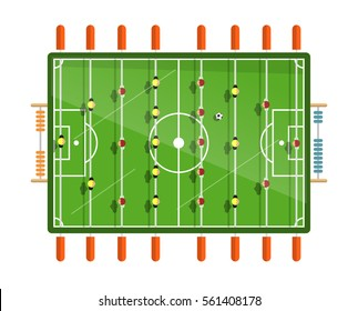 Table Football Vector Flat Design Illustration Isolated on White Background