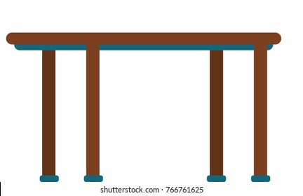 Table isolated vector illustration