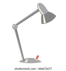 Table lamp. flashlight. flat