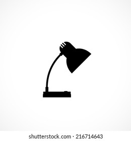 table lamp, flat icon isolated on white background