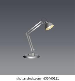 table lamp flat vector,vector illustration