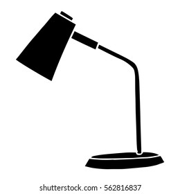 Table lamp isolated on white background. Vector illustration in a sketch style.