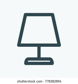 Table lamp vector icon