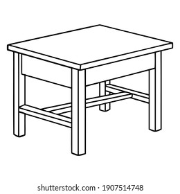 table line vector illustration, isolated on white background.Top view