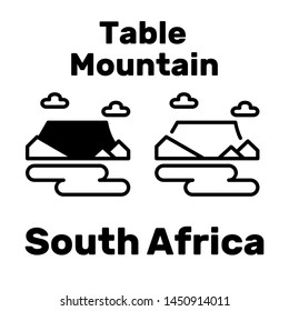 The Table Mountain icon in South Africa as a tourist attraction