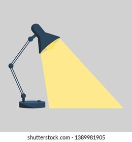 Table office desktop lamp lighting. Bright business  ideas vector