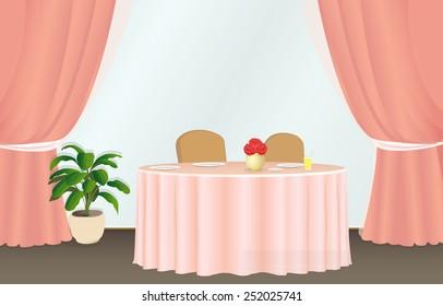 Table in a Paris restaurant