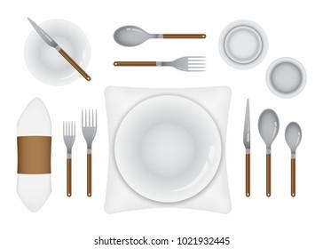 Fine Dining Table Set Up Stock Vectors Images Vector Art Shutterstock