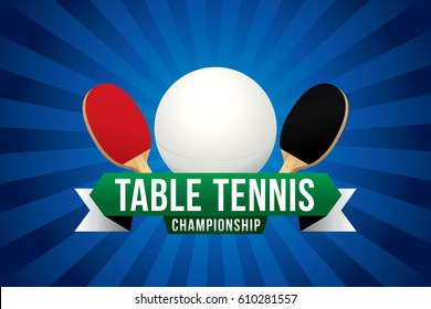 Table tennis championship badge design.