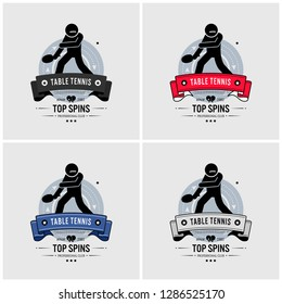 Table tennis club logo design. Vector artwork and emblem for ping pong tournament and competition.