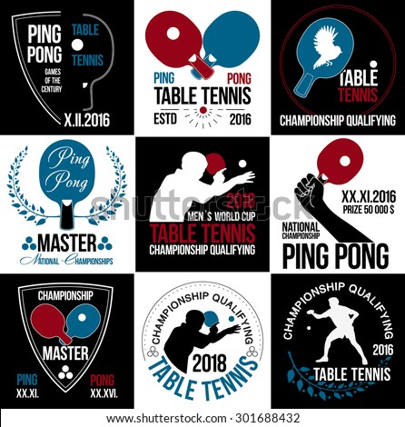 table tennis logo ping pong logo game image vectorielle de