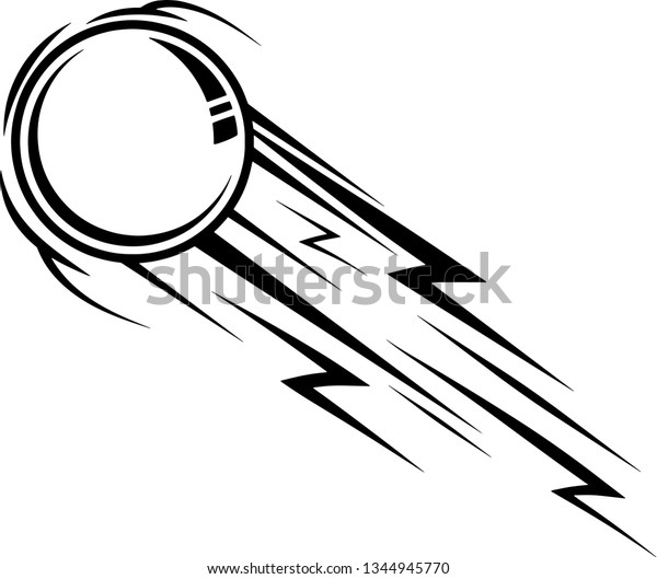 Table Tennis Ping Pong Ball Fast Stock Vector Royalty Free