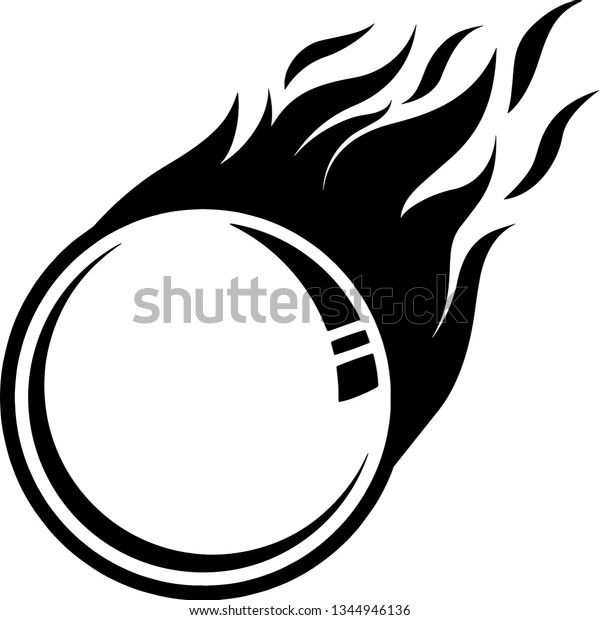 Table Tennis Ping Pong Ball Fire Stock Vector Royalty Free