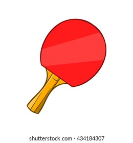 Table tennis racket icon, cartoon style