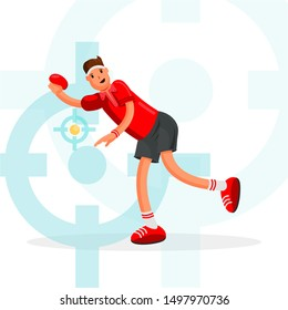 Table Tennis Sportsman Games Icon Set. Ping Pong Athlete. Sporting Championship People Set Competition. Sport events Infographic Table Tennis Vector Illustration