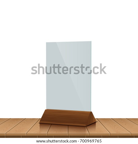 Table Tent On Wooden Table Isolated Stock Vector Royalty Free - Wooden table tents