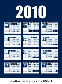 Table top calendar 2010
