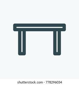 Table vector icon