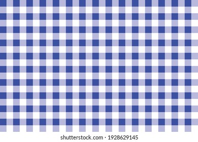 Tablecloth with blue and white color for fabric clothes. Vector illustration.