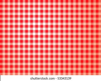 Tablecloth Texture Vector Layered vector illustration of a red and white checked tablecloth pattern.