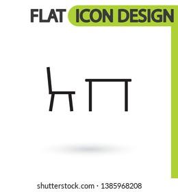 Tableicon vector icon , lorem ipsum Flat design