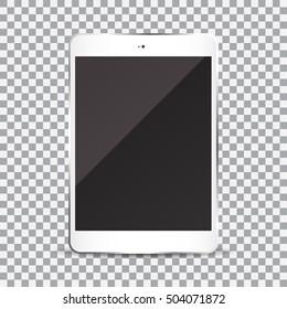 Tablette mit Leerbildschirm auf transparentem Hintergrund