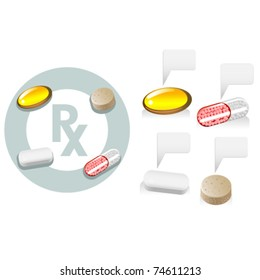 Tablet, capsule, softgel, caplet, Rx medicine and vitamins