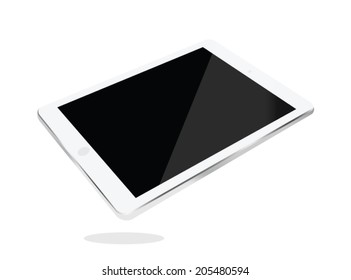Tablet computer . isolated on white. Vector illustration