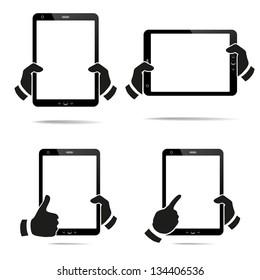Tablet Computer & Mobile Phone. Vector illustration