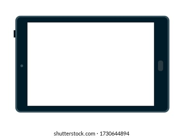 Tablet computer to order products online flat icon vector isolated