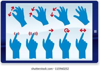 Tablet gestures