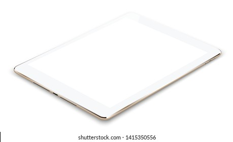 tablet gold color with a blank screen