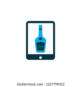 Tablet icon colored symbol. Premium quality isolated elite cognac element in trendy style.