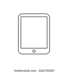 the tablet icon. Element of Media for mobile concept and web apps icon. Thin line icon for website design and development, app development