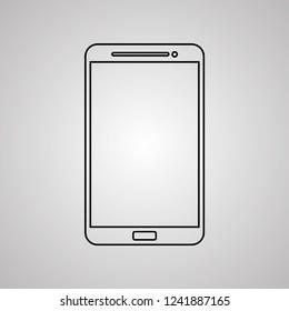 tablet icon vector illustration Linear symbol