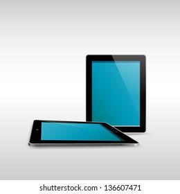 Tablet illustrator isolated on white background.EPS10