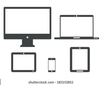 Tablet laptop device isolated on white